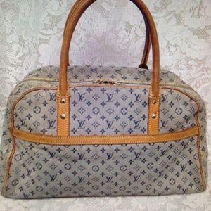 Louis Vuitton Marie Mini Lin Blue Denim Handbag